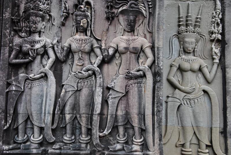 Apsara dancers royalty free stock images