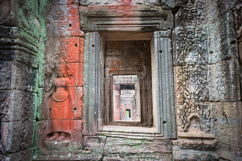Download Apsara Dancers, Bas-relief Of Angkor, Cambodia Stock Photo - Image: 26903442