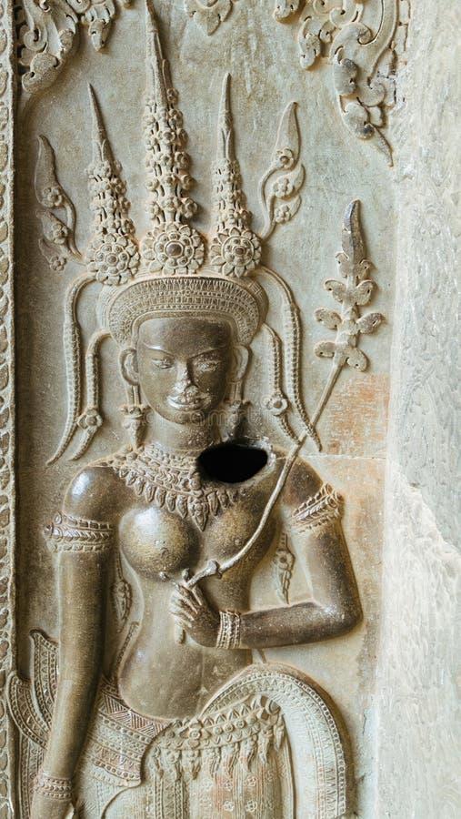 Apsara der Engel von Kambodscha lizenzfreie stockbilder