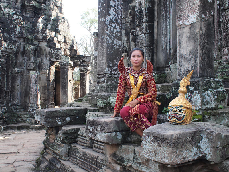 Apsara em Angkor fotos de stock