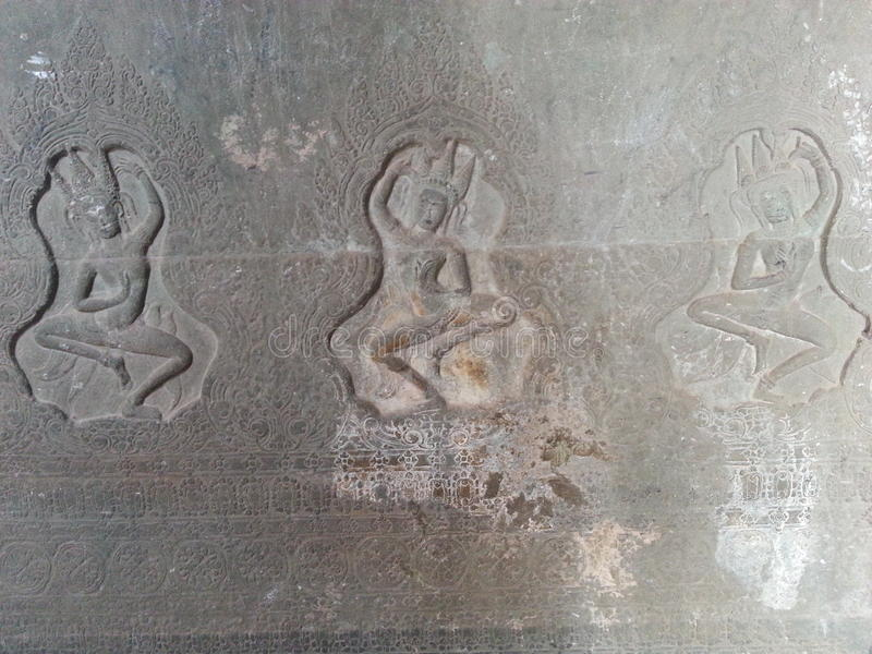 Apsara en devata stock afbeeldingen