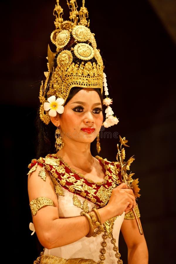 apsara zbliżenia kostiumu tancerz tradycyjny zdjęcia stock