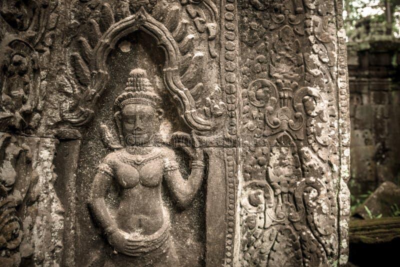 Apsaraen i Angkor Thom, Cambodja fotografering för bildbyråer