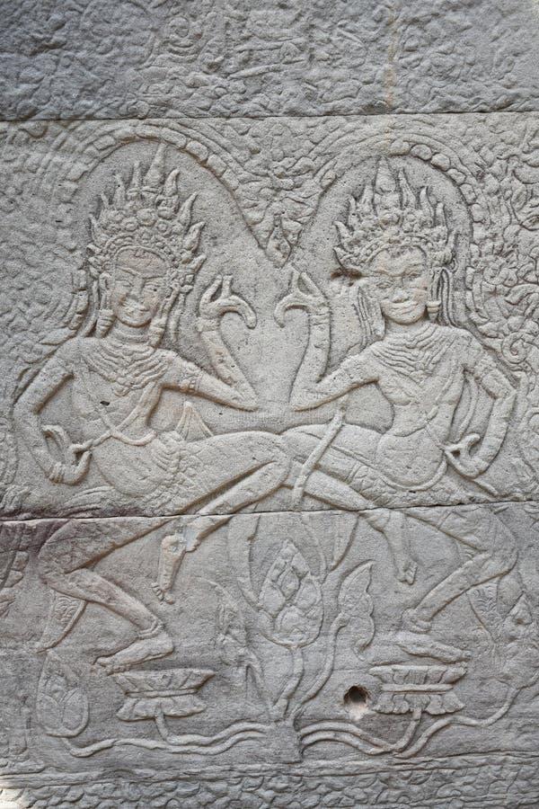 Apsaras :在空气的秀丽 免版税库存照片