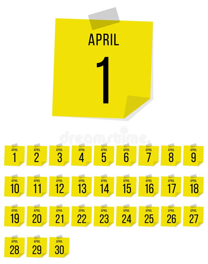 apse Διανυσματικό επίπεδο καθημερινό ημερολογιακό σύνολο r έτος μήνα ημέρας διανυσματική απεικόνιση
