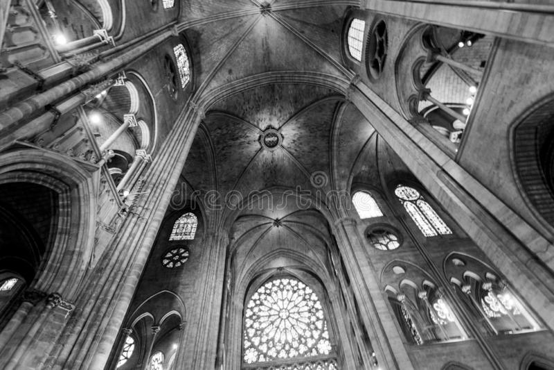 Apse της Παναγίας των Παρισίων στοκ φωτογραφία με δικαίωμα ελεύθερης χρήσης