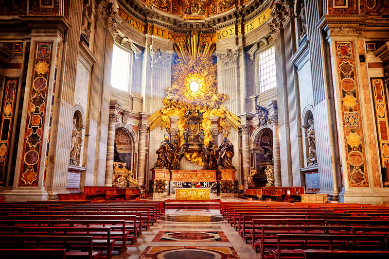 Apse of basilica of St. Peter's in Rome royalty free stock image