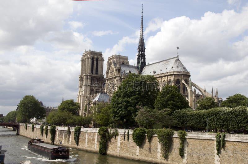 apsydy katedralnej paniusi zewnętrzny notre Paris fotografia royalty free