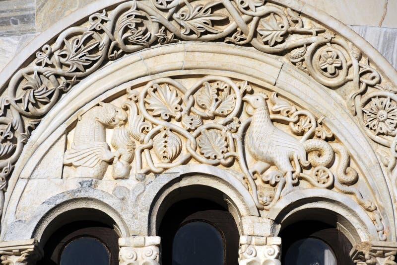 apsydy monaster popierający kogoś studenica trzy obraz stock