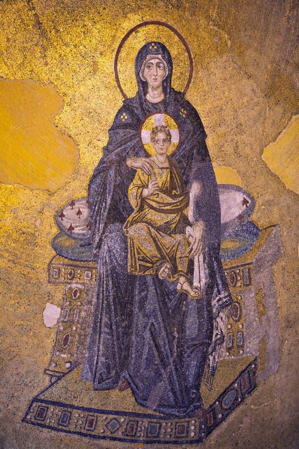 Apsydy Mozaika, Hagia Sophia, Istanbuł obraz royalty free