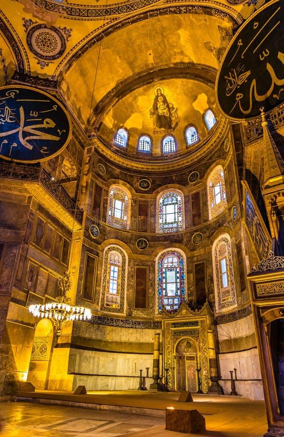 Apsydy mozaika Theotokos w Hagia Sophia (dziewicy dziecko i matka) zdjęcie stock