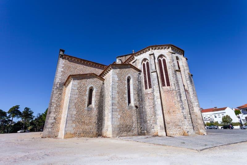 Apsydy powierzchowność Santa Clara kościół w mieście Santarem obrazy stock
