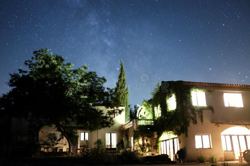 apt home night royalty free stock photography