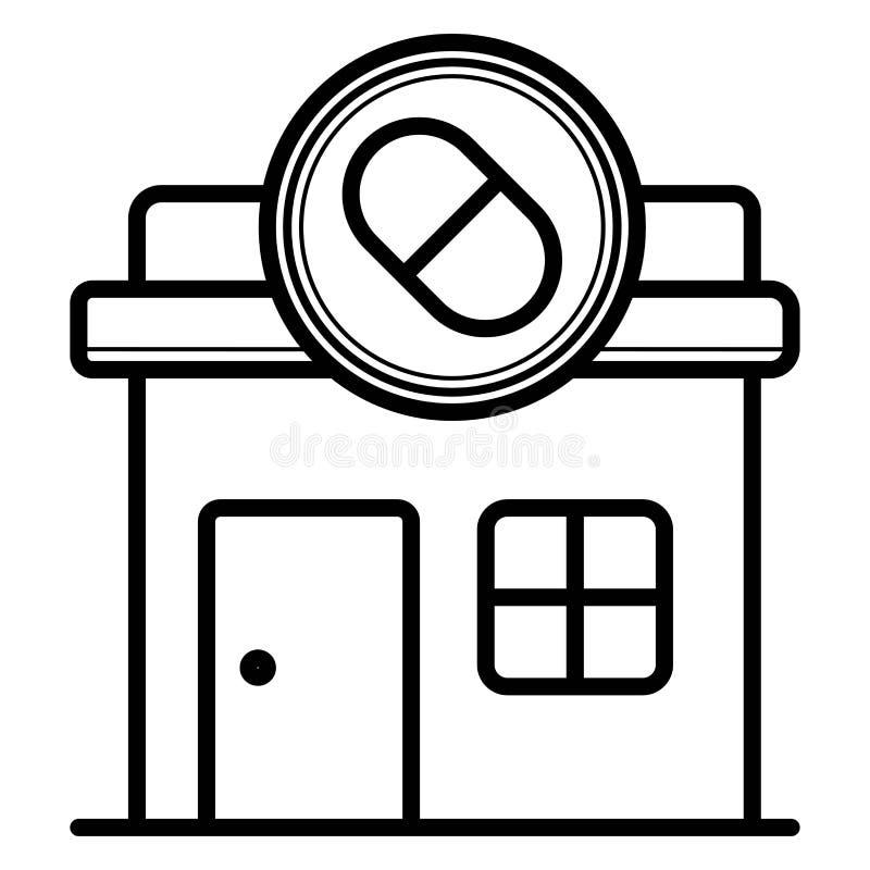 Apteka, apteki ikona ilustracji