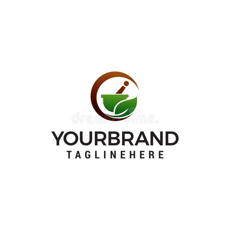 Apteka logo projekta pojęcia ziołowy szablon ilustracja wektor