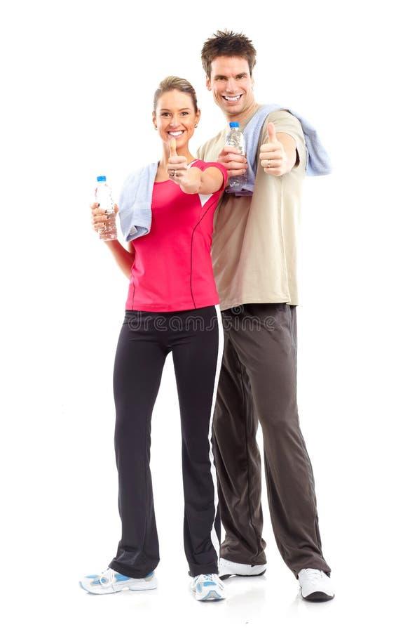 Download Aptidão foto de stock. Imagem de beber, bebida, menina - 12805212