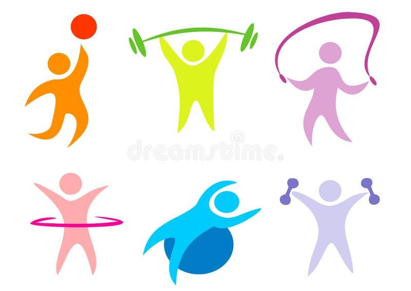 Aptidão, Coleção Do Esporte Dos ícones Imagens de Stock