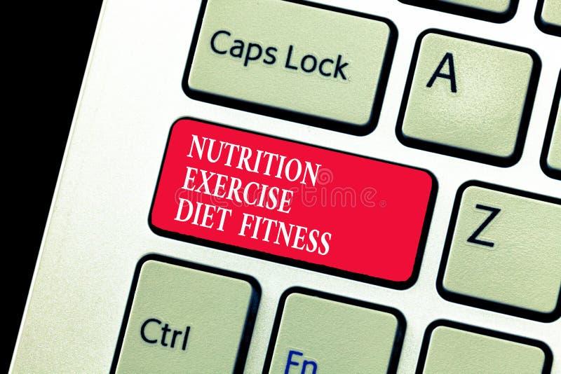 Aptidão da dieta do exercício da nutrição da escrita do texto da escrita Conceito que significa o analysisagement saudável da per imagens de stock