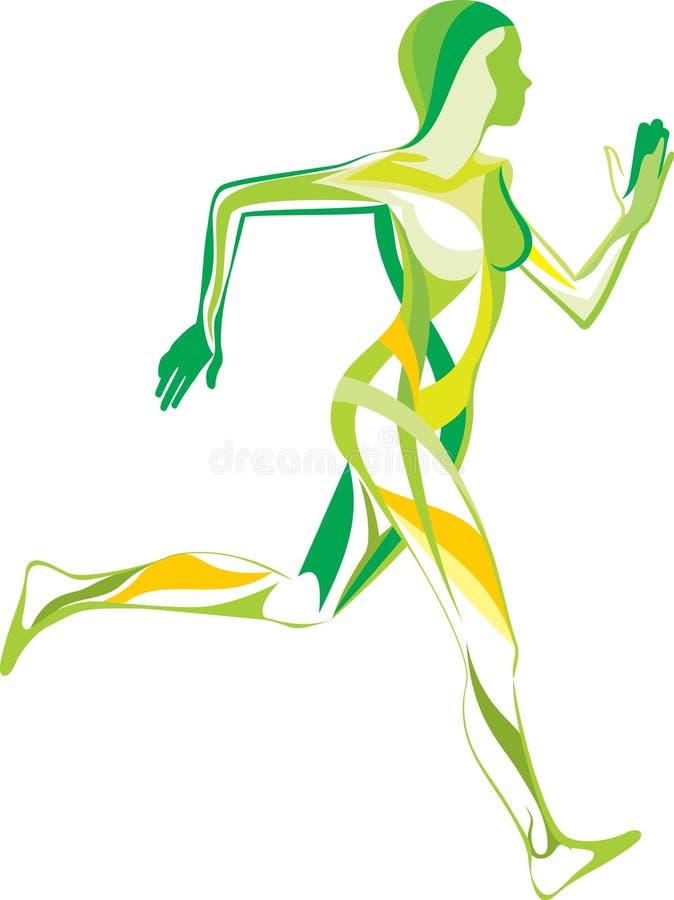 Aptidão, ioga, esporte ilustração do vetor