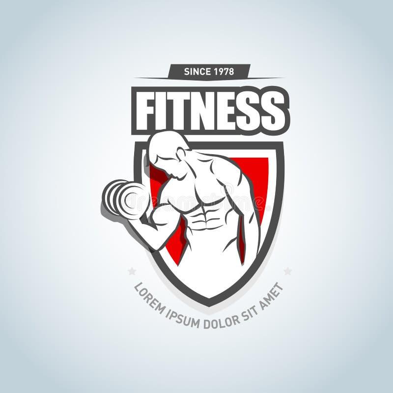 Aptidão Logo Template Logotype do clube do Gym Conceito criativo do clube de aptidão do esporte ilustração stock