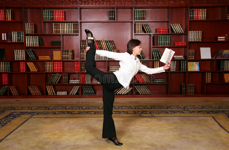 Aptidão na biblioteca fotos de stock royalty free