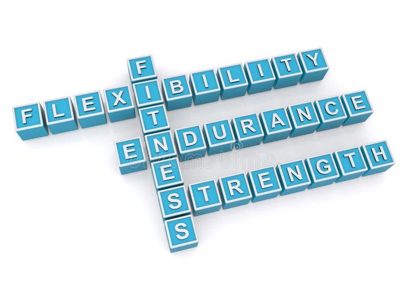 Aptidão, resistência da flexibilidade e força ilustração do vetor