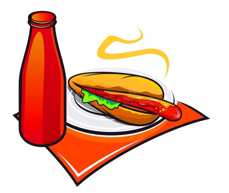 Download Aptitretande hotdogketchup vektor illustrationer. Illustration av cartoon - 19786886