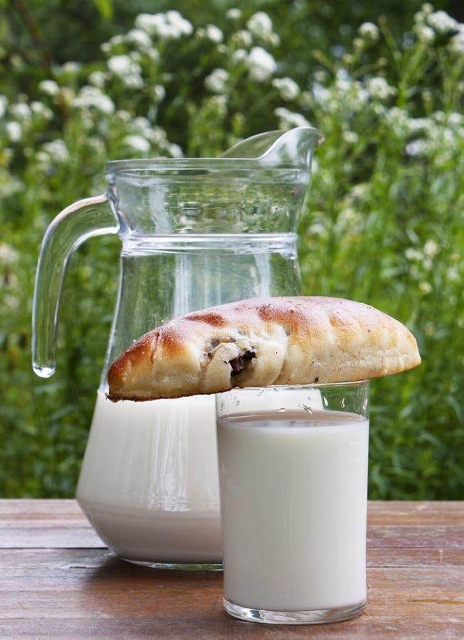 aptitretande nya mjölkar pies arkivbild