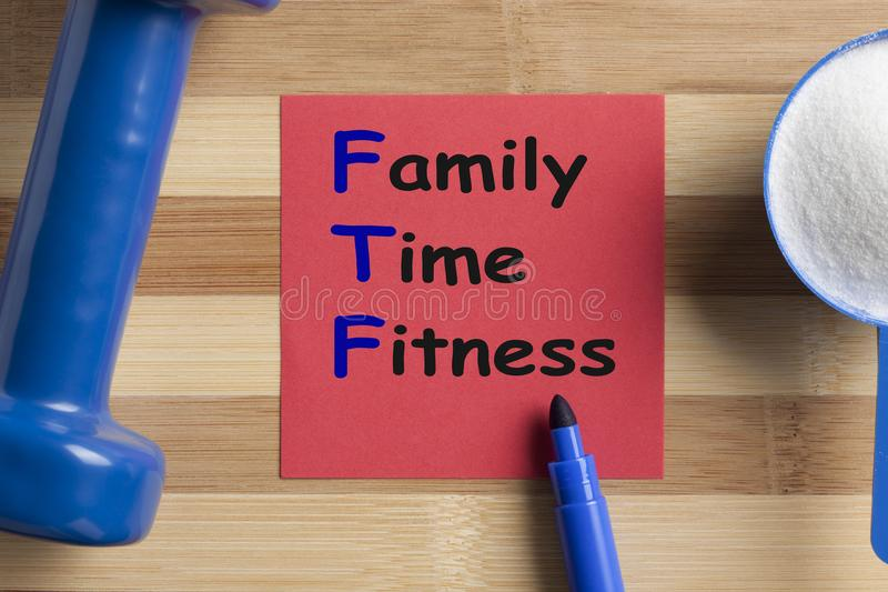 Aptitud del tiempo de la familia imagen de archivo libre de regalías
