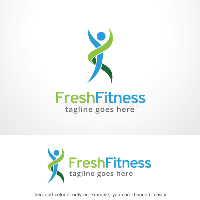 Aptitud fresca Logo Template Design Vector, emblema, concepto de diseño, símbolo creativo, icono stock de ilustración