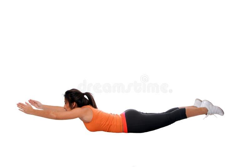 Aptitud posterior del ejercicio de la yoga que estira foto de archivo libre de regalías