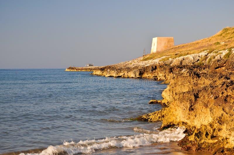 apulia海岸gargano意大利 免版税库存照片