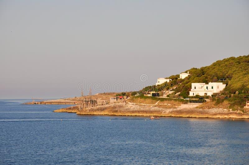 apulia海湾意大利manacore 库存图片