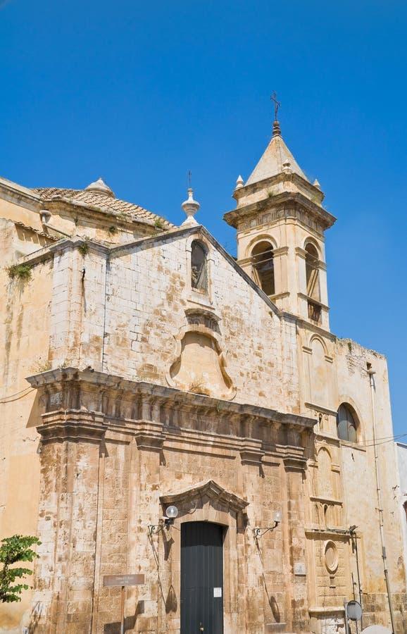 apulia church colle del palo rocco st 库存照片
