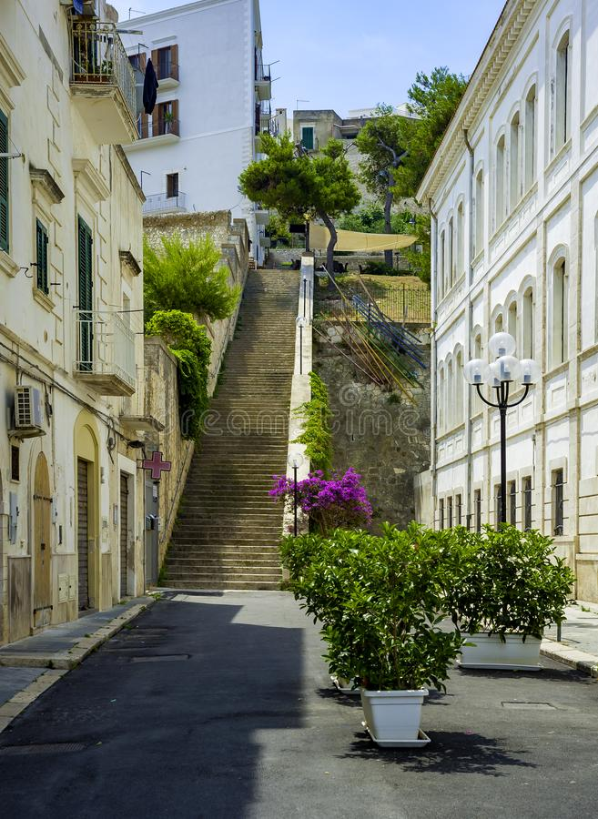 Apulia, Vieste old town, south Italy royalty free stock photo