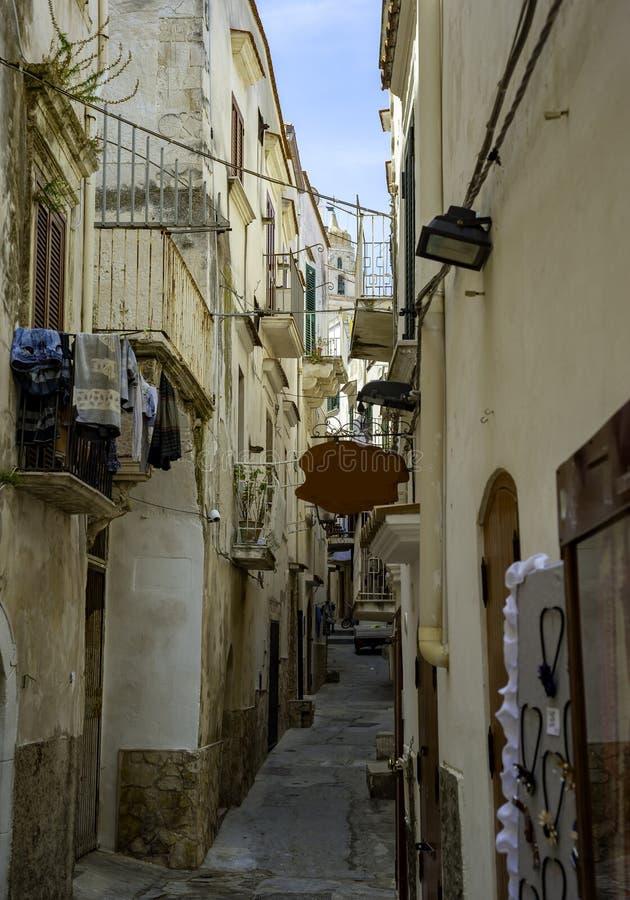 Typical italian medieval narrow street. royalty free stock photos