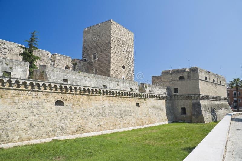 apuliabari slott norman swabian fotografering för bildbyråer