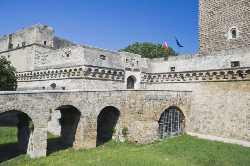 apuliabari slott norman swabian royaltyfri fotografi
