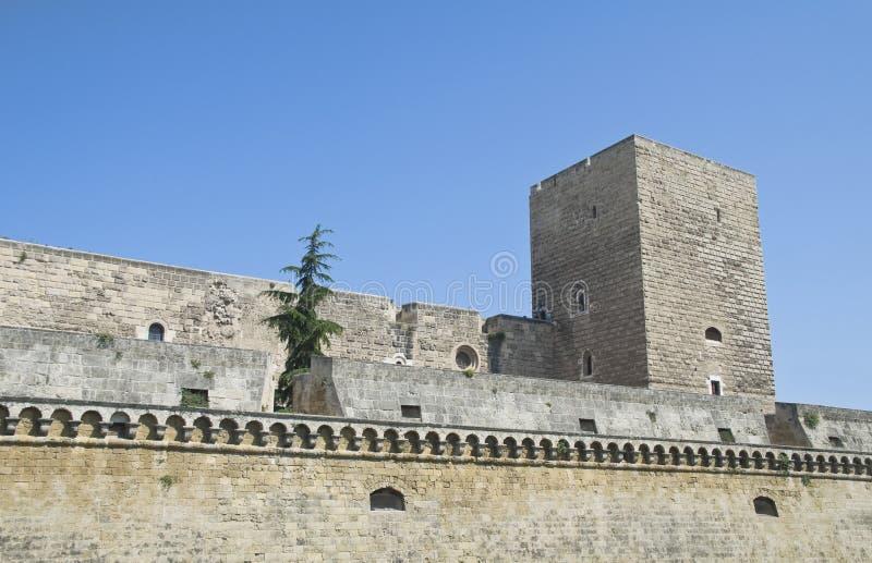 apuliabari slott norman swabian royaltyfria foton