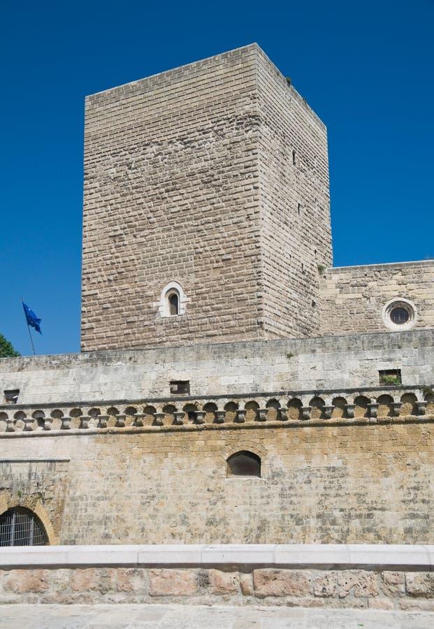 apuliabari slott norman swabian arkivbild