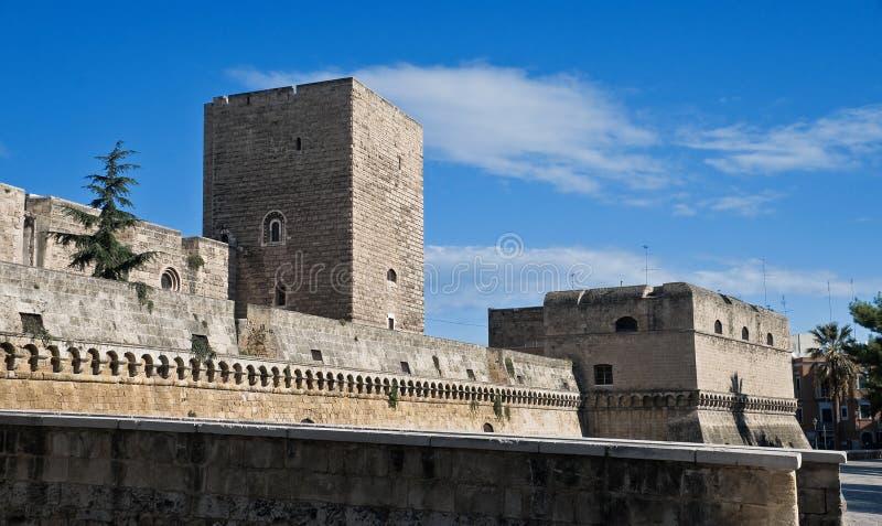apuliabari slott norman swabian arkivfoton