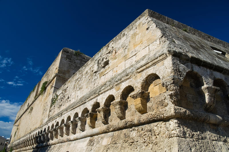 apuliabari slott norman swabian arkivfoto