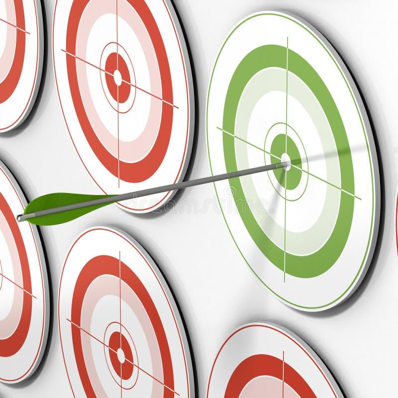 Apuntado - blanco y flecha stock de ilustración