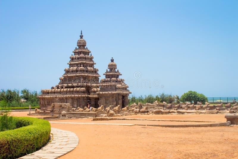 Apuntale el templo en Mahabalipuram, Tamil Nadu, la India imagenes de archivo