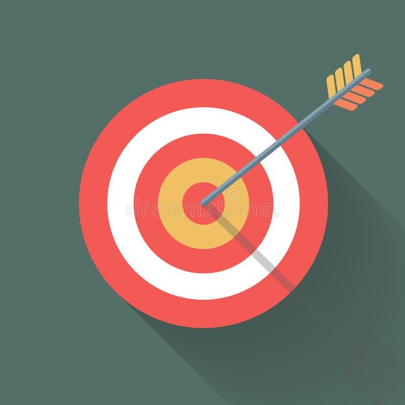 Apuntar concepto, la flecha en ojo de toros libre illustration