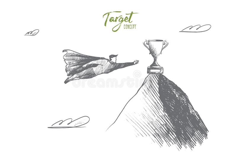 Apunte el concepto Vector aislado dibujado mano stock de ilustración