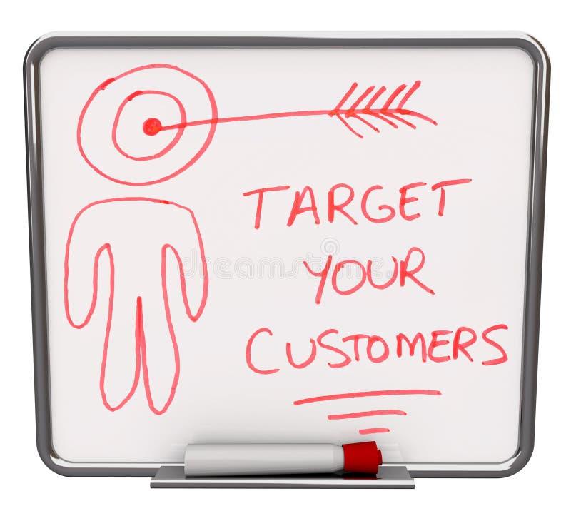 Apunte a sus clientes - seque a la tarjeta del Erase libre illustration