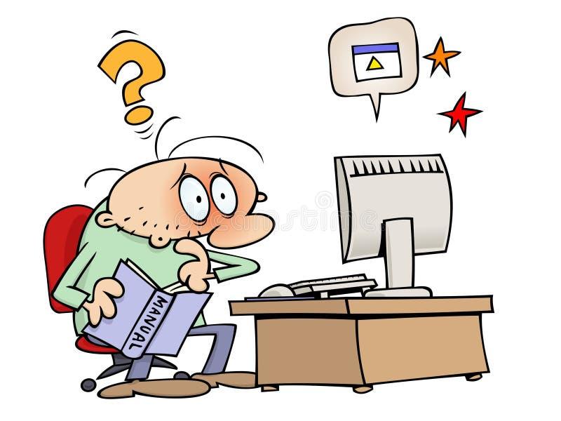 Apuro del ordenador libre illustration