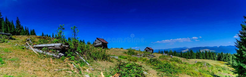 Apuseni山的传统房子,罗马尼亚 库存图片