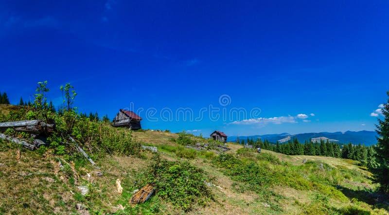 Apuseni山的传统房子,罗马尼亚 免版税库存图片